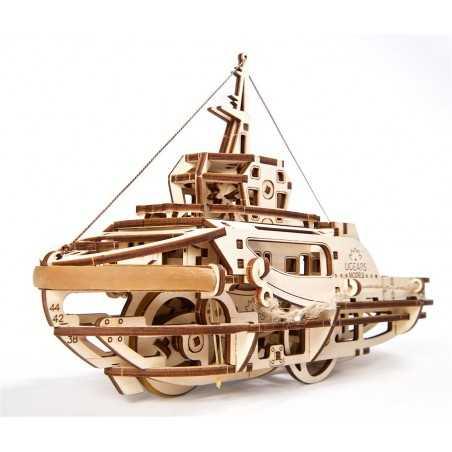 RIMORCHIATORE tugboat NAVE IN LEGNO da montare UGEARS barca 169 PEZZI modellismo PUZZLE 3D età 14+ Ugears - 1
