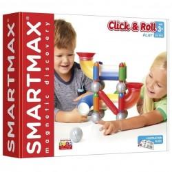 CLICK AND ROLL gioco magnetico SMARTMAX play COSTRUZIONI in plastica 30 PEZZI extra large 3D età 3+ smartmax - 1
