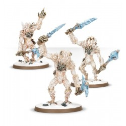 ICEFALL YHETEES 3 miniature Warhammer YETI Age of Sigmar in finecast Games Workshop - 1