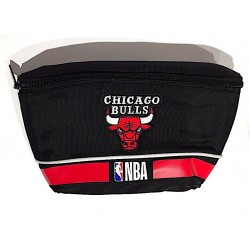 MARSUPIO originale NBA panini CHICAGO BULLS basket NERO ufficiale BELT BAG con zip Franco Panini Ragazzi - 1