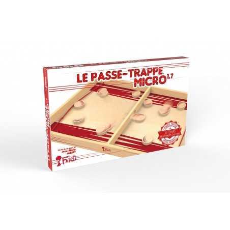 PASSE TRAPPE MICRO 1.7 gioco di abilità IN LEGNO velocità e precisone UNO CONTRO UNO ad elastico FERTI età 4+ Ferti games - 1