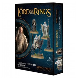 SARUMAN THE WHITE & GRIMA WORMTONGUE the lord of the ring 4 MINIATURE signore degli anelli CITADEL età 12+ Games Workshop - 1