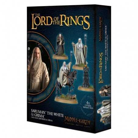 SARUMAN THE WHITE & GRIMA WORMTONGUE the lord of the ring 4 MINIATURE signore degli anelli CITADEL età 12+ Games Workshop - 1