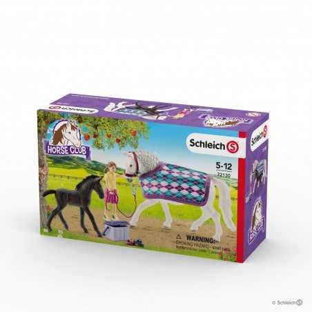 CURA LIPIZZANER cavalli HORSE CLUB miniature in resina SCHLEICH 2 cavalli 1 ragazza 72130 età 5+ Schleich - 1
