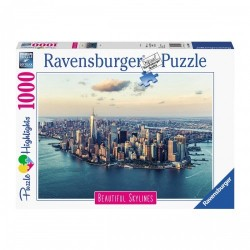 PUZZLE ravensburger NEW YORK beautiful skylines 1000 PEZZI 70 x 50 cm LA GRANDE MELA highlights Ravensburger - 1