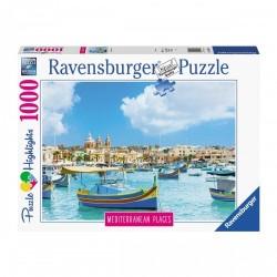 PUZZLE ravensburger MALTA mediterranean places 1000 PEZZI 70 x 50 cm HIGHLIGHTS Ravensburger - 1