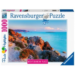 PUZZLE ravensburger GRECIA mediterranean places 1000 PEZZI 70 x 50 cm HIGHLIGHTS greece Ravensburger - 1
