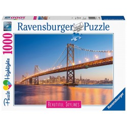 PUZZLE ravensburger SAN FRANCISCO beautiful skylines 1000 PEZZI 70 x 50 cm HIGHLIGHTS Ravensburger - 1