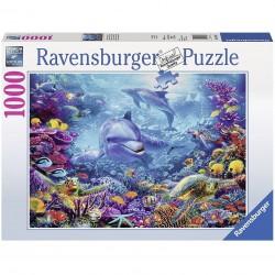PUZZLE ravensburger MAGNIFICO MONDO SOTTOMARINO original quality 1000 PEZZI 70 x 50 cm Ravensburger - 1