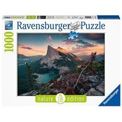 PUZZLE ravensburger TRAMONTO IN MONTAGNA 16 nature edition 1000 PEZZI 70 x 50 cm Ravensburger - 1