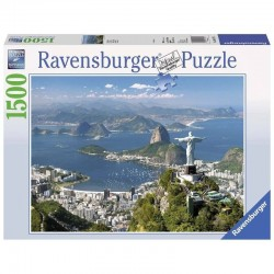 PUZZLE ravensburger VISTA SU RIO original quality 1500 PEZZI 80 x 60 cm VIEW OF RIO Ravensburger - 1