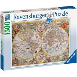 PUZZLE ravensburger MAPPA DEL MONDO 1594 original quality 1500 PEZZI 80 x 60 cm MAPPAMONDO Ravensburger - 1