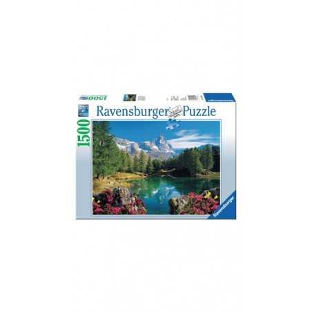 PUZZLE ravensburger LAGO ALPINO CON CERVINO original quality 1500 PEZZI 80 x 60 cm Ravensburger - 1
