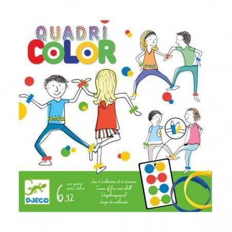 QUADRI COLOR gioco di società DJECO abilità DJ08447 twister CAVIGLIERE colori BRACCIALETTI età 6+ Djeco - 1