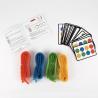 QUADRI COLOR gioco di società DJECO abilità DJ08447 twister CAVIGLIERE colori BRACCIALETTI età 6+ Djeco - 2