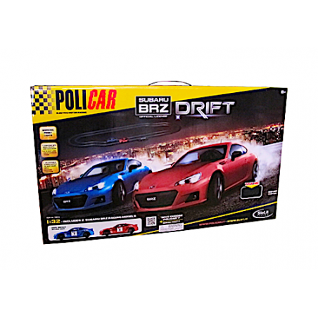 PISTA SUBARU BRZ DRIFT auto elettriche POLICAR 4 in 1 SLOT electric motor racing track T001a 8+ POLICAR - 2