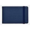CREDIT CARD HOLDER porta carte BLU schermato RFID BLOCKING con elastico LEGAMI
