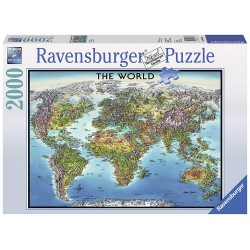 PUZZLE the world MAPPA DEL...