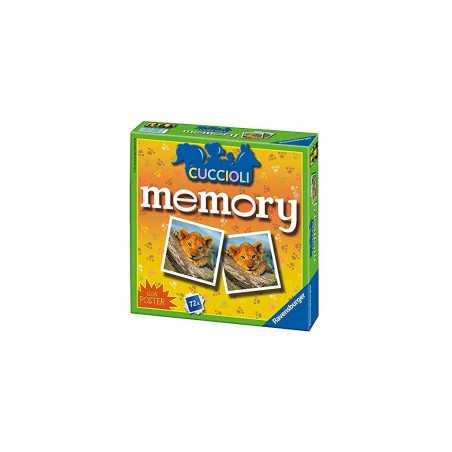 MEMORY ravensburger CON POSTER classico 72 TESSERE gioco di memoria CUCCIOLI DI ANIMALI età 4+