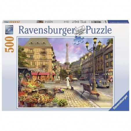 PASSEGGIATA A PARIGI ravensburger AN EVENING WALK soft click PUZZLE 500 PEZZI 49 x 36 cm ORIGINALE