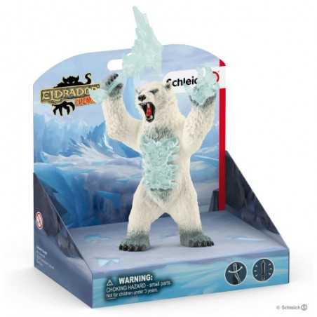 ORSO DEI GHIACCI CON ARMA blizzard bear with weapon ELDRADOR creatures 42510 schleich 7+