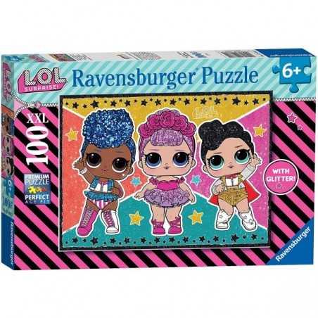 LOL surprise STELLE E GLITTER ravensburger PUZZLE XXL da 100 pezzi 49 X 36 CM età 6+