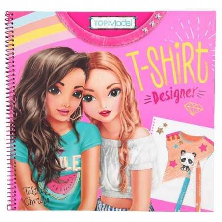 ALBUM maglietta CREA LA TUA T-SHIRT designer TOP MODEL talita e christy CON STICKERS da colorare