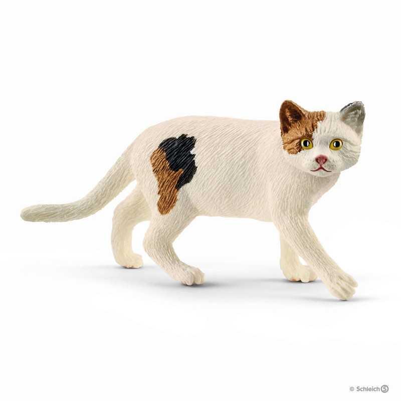 GATTO 2017 animali in resina SCHLEICH Farm Life 13836 nuova edizione CAT bianco