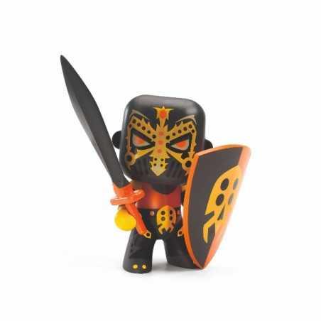 SPIKE KNIGHT cavalieri ARTY TOYS action figure DJECO in resina DJ06732 snodabile MINIATURA età 4+