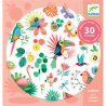 30 ADESIVI natura PARADISE paradiso GLITTER tropicale DJECO stickers DJ09260 età 4+