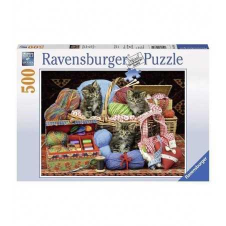 PUZZLE 500 pezzi GATTI DIVERTIMENTO SUL MORBIDO Ravensburger 14785 cm 49 X 36  premium
