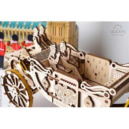 CARROZZA REALE Royale Carriage in legno UGEARS da montare puzzle 3D 290 pezzi