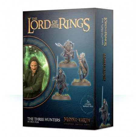 I TRE CACCIATORI Lord of the Rings Games Workshop 3 miniatures Legolas Aragorn Gimli Middle Earth wargame