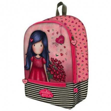 ZAINO con 3 zip GORJUSS backpack LOVE GROWS santoro 1045GJ04 scuola e tempo libero ROSA Gorjuss - 1