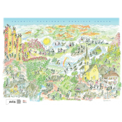 PUZZLE fabio vettori DOLOMITI IN ESTATE made in italy 1080 PEZZI eco friendly 48,5 X 68,5 CM le formiche FABIO VETTORI - 1