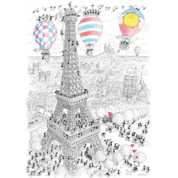 PUZZLE fabio vettori PARIGI made in italy 1080 PEZZI eco friendly 48,5 X 68,5 CM le formiche FABIO VETTORI - 1