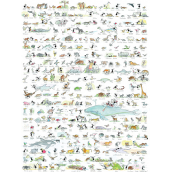 PUZZLE fabio vettori ANIMALI made in italy 1080 PEZZI eco friendly 48,5 X 68,5 CM le formiche FABIO VETTORI - 1