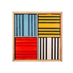 Costruzioni legno KAPLA COLOR 100 pezzi in 8 colori diversi OCTOCOLOR Kapla - 1