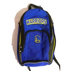 ZAINO organizzato NBA panini GOLDEN STATE WARRIORS basket BLU originale BACKPACK con rete porta pallone Franco Panini Ragazzi -