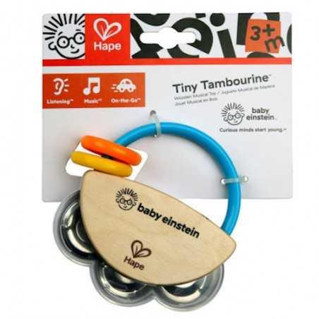 SONAGLIO MUSICALE strumento HAPE gioco TINY TAMBOURINE età 3 mesi+