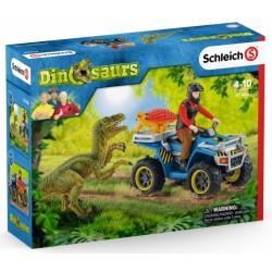 FUGA SUL QUAD set dinosauri...