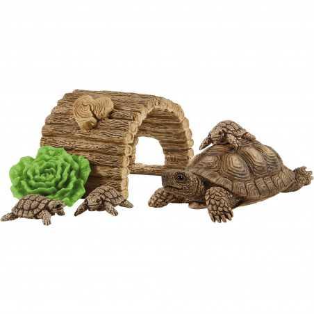 TANA PER TARTARUGHE miniature in resina WILD LIFE schleich 42506 set animali KIT età 3+