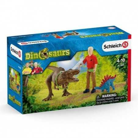 CATTURA DEL TIRANNOSAURO set dinosauri SCHLEICH miniature in resina DINOSAURS t-rex 41465 età 5+
