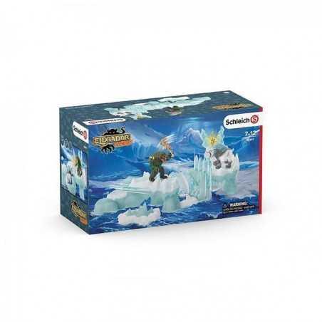 ATTACCO ALLA FORTEZZA DI GHIACCIO set SCHLEICH miniature in resina ELDRADOR creatures 42497 età 7+