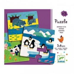 Wood Puzzle Djeco DUOANIMO...