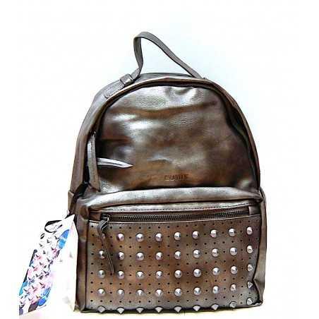MINI ZAINO con le borchie COMIX panini PINS tempo libero GRIGIO scuola BACK PACK