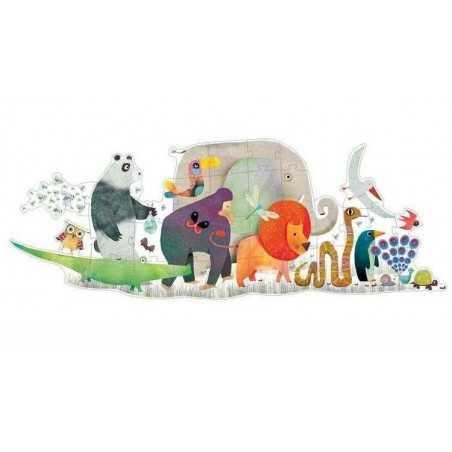Puzzle DJECO Gigante ANIMAL PARADE 36 pezzi età 3+ DJ07171 SFILATA DEGLI ANIMALI Djeco - 1