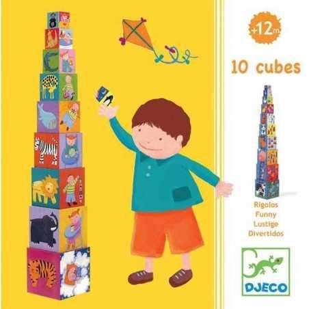 FUNNY BLOCKS 10 CUBI IMPILABILI ANIMALI by DJECO età 12M+ DJ08503 Djeco - 2