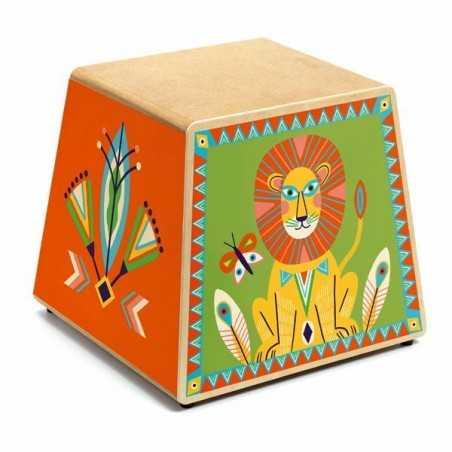 CAJON BOX DRUM animambo DJECO strumento musicale TAMBURO in legno DJ06014 età 4+