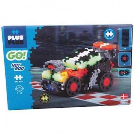 MINI GO 240 pezzi PLUSPLUS gioco modulare HOT ROD costruzioni GLOW IN THE DARK età 5+